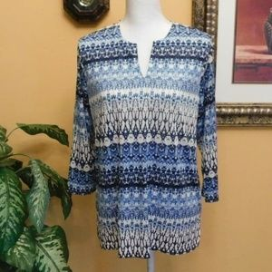 Cathy Daniels 3/4 Sleeve Pullover Top